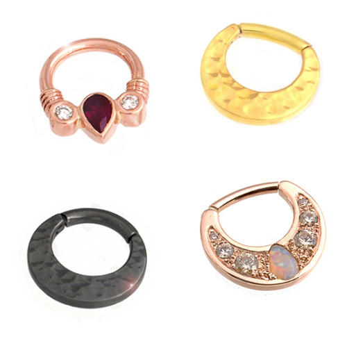 Gold Septum Rings & Clickers